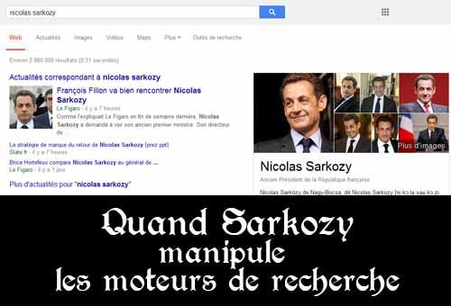 Sarkozy dans les moteurs de recherche