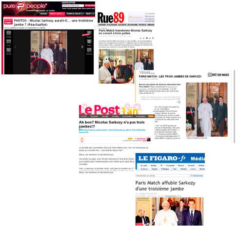 Le buzz des trois jambes de Sarkozy