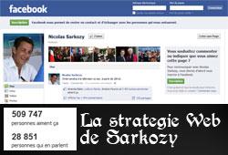 Facebook de Sarkozy en 2012