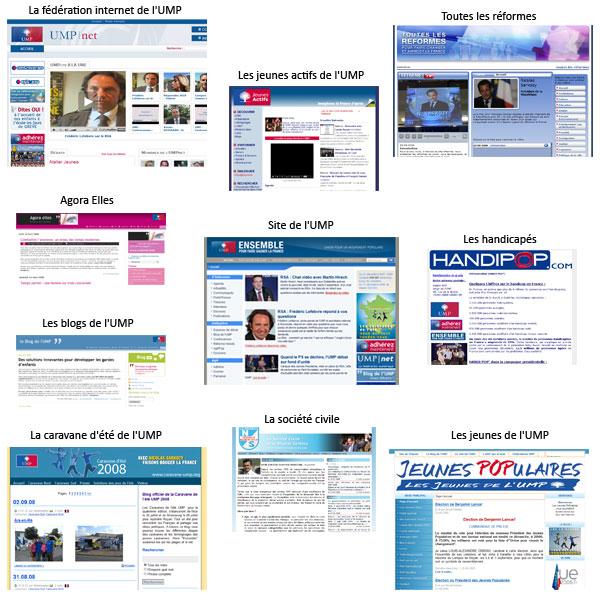 Sites web de l'UMP