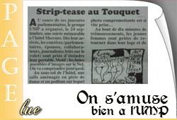 Strip-tease à l'UMP dans le Canard enchaîné