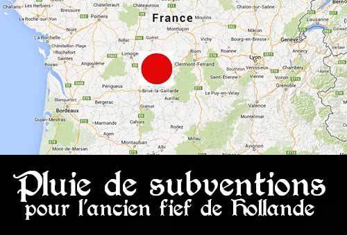 Depuis l'élection de François Hollande, la Corrèze et la ville de Tulle ont touché 16,3 millions d'euros d'aides de l'Etat