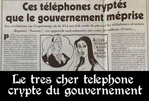 Selon Le Canard enchaîné, le téléphone crypté du gouvernement a coûté 30 millions d'euros, mais il n'a pas de répertoire