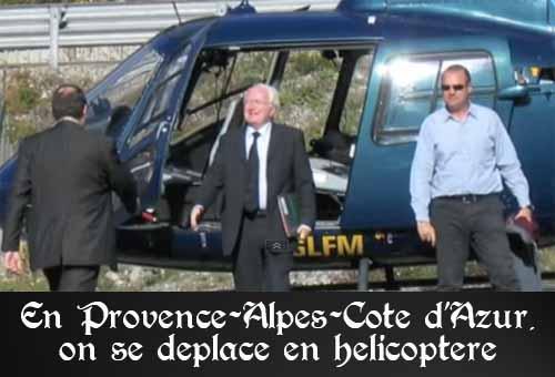 Michel Vauzelle, un président de région qui se déplace en hélicoptère pour un coût de 206 000 euros