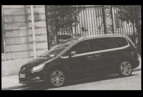 Voiture du candidat Hollande