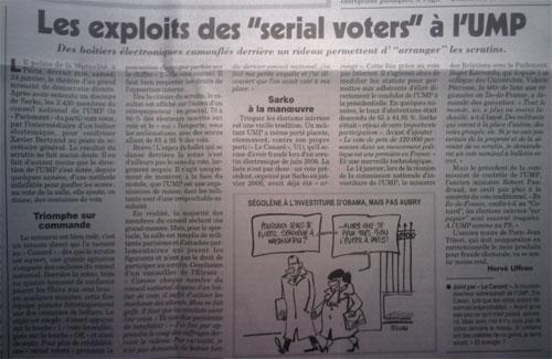 Canard Enchaîné - Vote interne à l'UMP